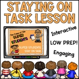 Staying on Task Lesson Plan