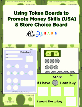 Using Token Boards to Promote Money Skills & Store Choice Board (USA)
