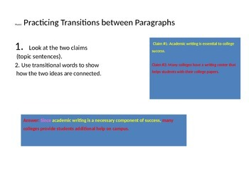 Using Transitional Sentences