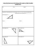 Using Trig Functions to Find Missing Side Lengths of Right Triangles Guided Note