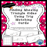 Using Trig to Find Side Measures Matching Card Set