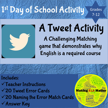 Using Tweets to Show why English is a Required Subject