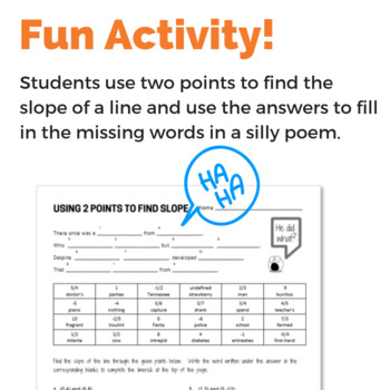 Using Two Points to Find Slope - Fun Activity