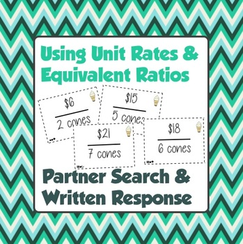 Using Unit Rates - Partner Search and Written Response