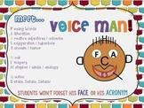 """VOICE MAN"" Adaptable Strategy + 10 Mini-Lessons - A FUN W"