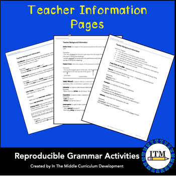 Understanding Verbs: A  Middle School Grammar Resource