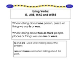 Using Verbs: IS, ARE, WAS and WERE in Correctly in a Sentence Literacy Center