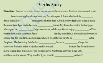 Using Verbs in Writing Practice