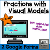 Using Visual Models with fractions - Google Form - video -