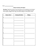 Using Vocabulary Strategies in Context