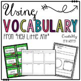 """Using Vocabulary from """"Hey Little Ant"""""""