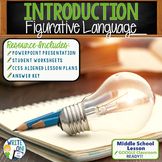 FIGURATIVE LANGUAGE INTRODUCTION - Middle School