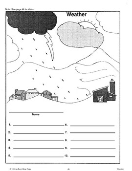 Using Weather Activity Sheet Patterns