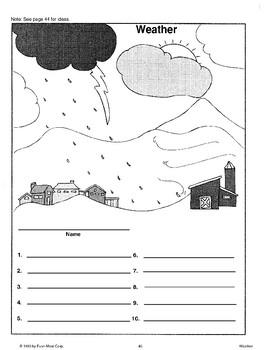 Using Weather Activity Sheet Patterns