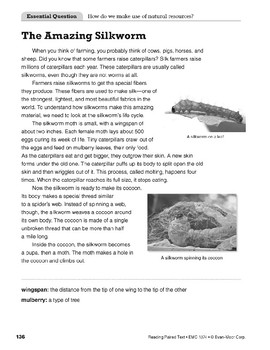 Using What Nature Provides (Reading Paired Text)