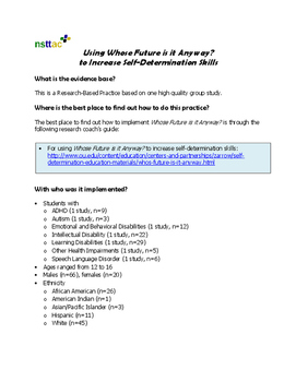 Using Whose Future is it Anyway? to Increase Self-Determin