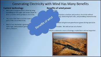 Using Wind Energy to Generate Electricity – A STEM Product