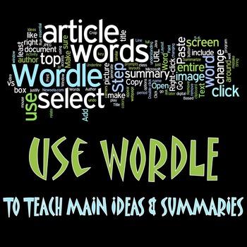 Using Wordle to teach Main Idea & Summaries by Lancy's Language Arts