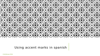 Using Written Accent Marks