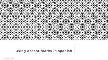Using Written Accent Marks