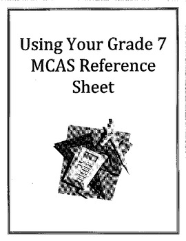 Using Your MCAS Reference Sheet