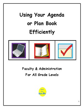 Using Your Plan Book or Agenda Efficiently