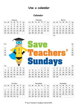 Using a Calendar lesson plans, worksheets and more