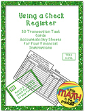 Using a Check Register Task Cards TEKS 6.14C