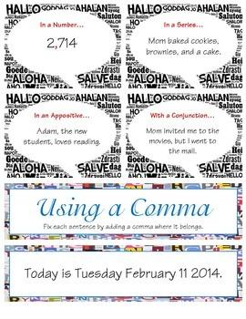 Using a Comma (L 2.2b)