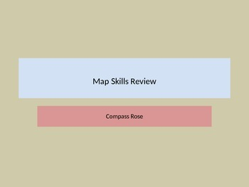 Using a Compass Rose - Map Skills Review