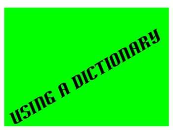 Using a Dictionary