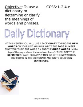 Using a Dictionary Center