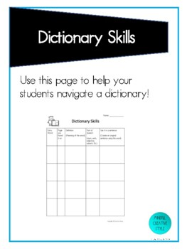 Using a Dictionary Practice