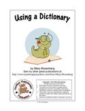 Using a Dictionary by Mary Rosenberg