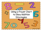 Using a Frayer Chart to Show Addition Strategies