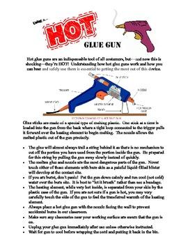 Using a Hot Glue Gun in Class