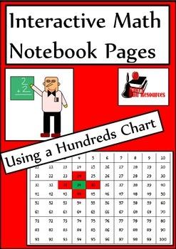 Using a Hundreds Chart for Interactive Math Notebooks