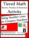 Using a Number Line to Compare Numbers Tiered Math Activity