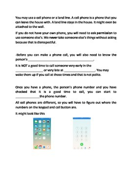 Using a Phone Lesson and Questions