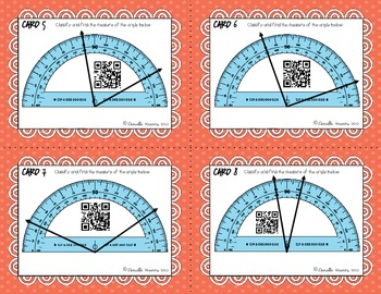 Using a Protractor Task Cards with QR Codes