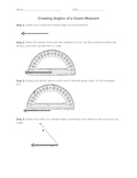 Using a Protractor to Draw Angles