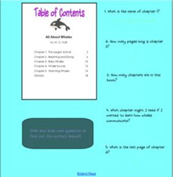 Using a Table of Contents (SMARTboard lesson)