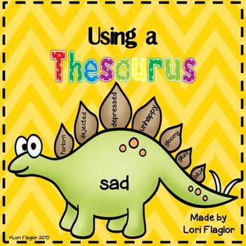 Using a Thesaurus- Dinosaur Craft and Mini-Unit
