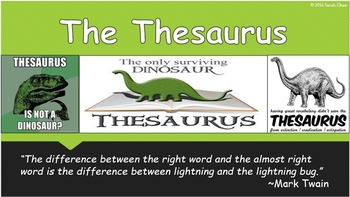 Using a Thesaurus Power Point