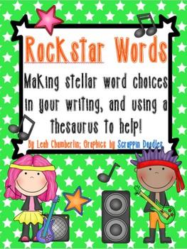 Using a Thesaurus: Rock Star Words