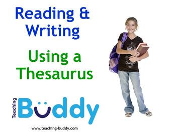 Using a Thesaurus Teaching Resource