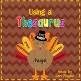 Using a Thesaurus- Thanksgiving Craft and Mini-Unit