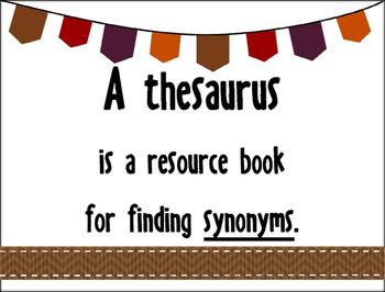 Using a Thesaurus to Improve Writing Skills