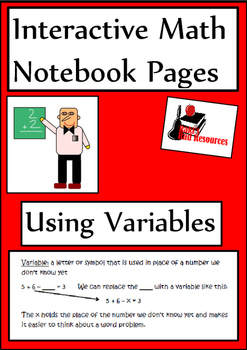 Using a Variable Lesson for Interactive Math Notebooks