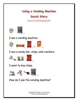 Using a Vending Machine Social Story